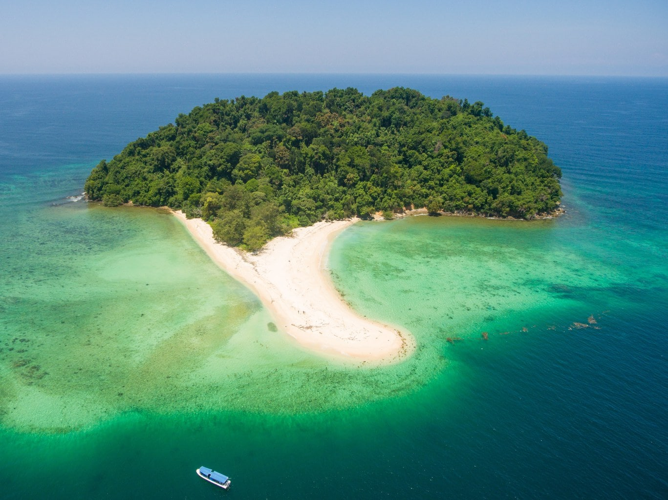 Manukan Island from the sky