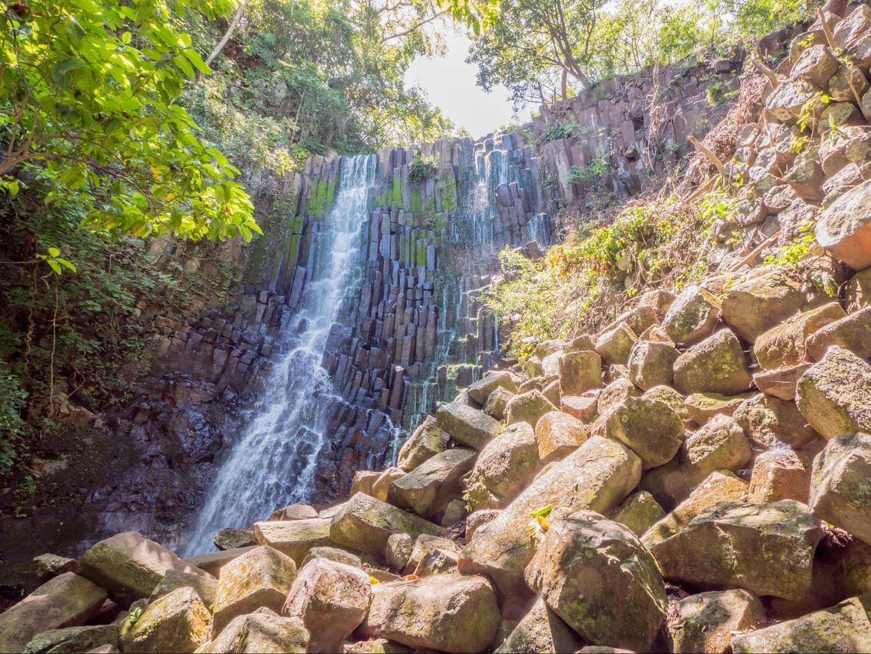 Cascada los Tercios waterfall in Suchitoto