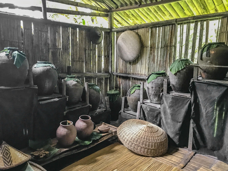 rice wine fermentation of Lundayeh tribe, Mari Mari village