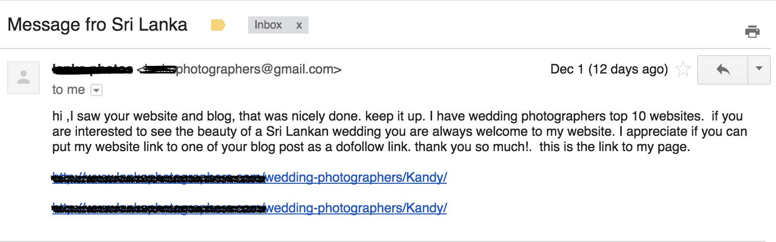 Weird email
