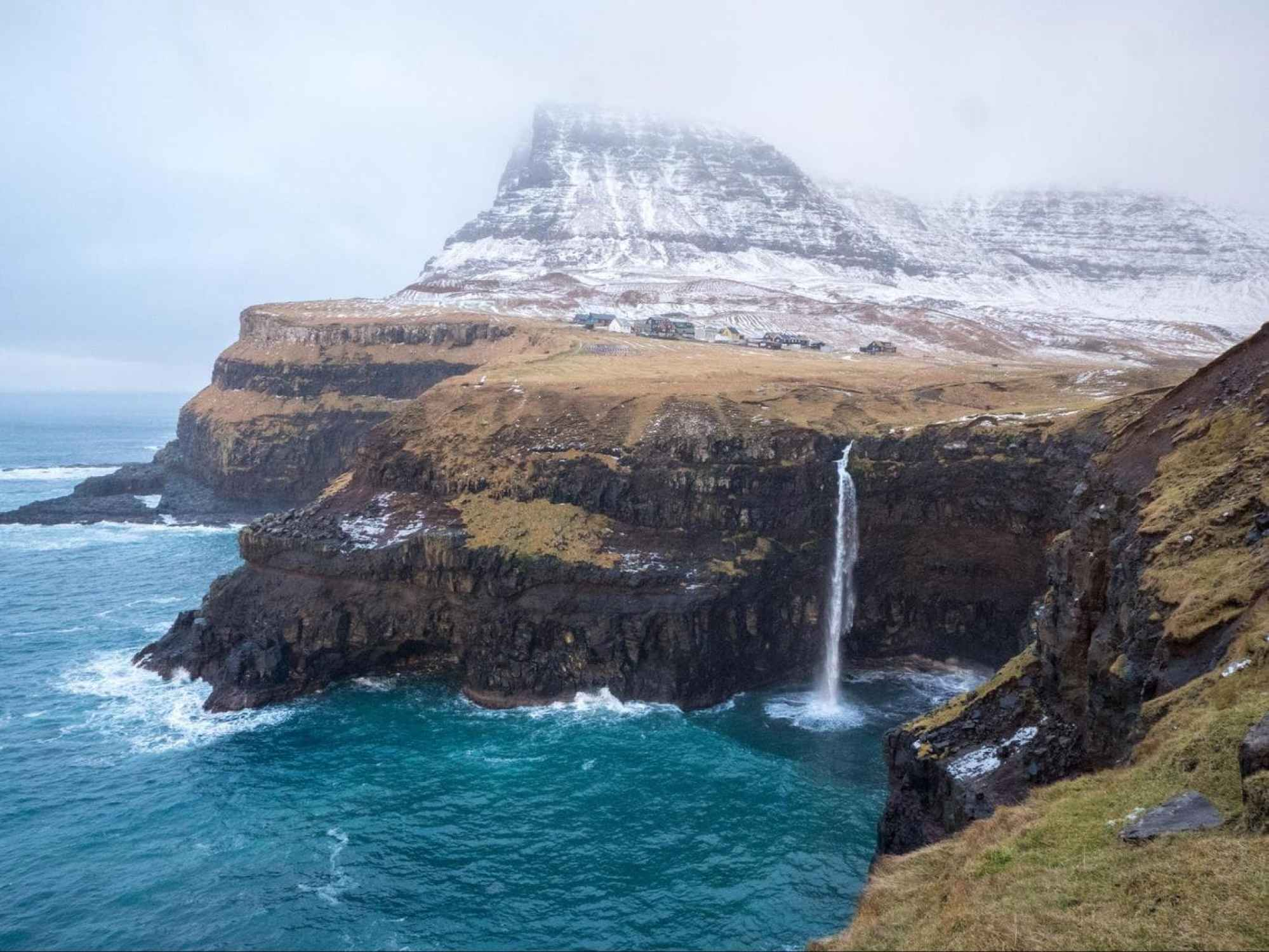 Gásadalur and the Mulafossur waterfall