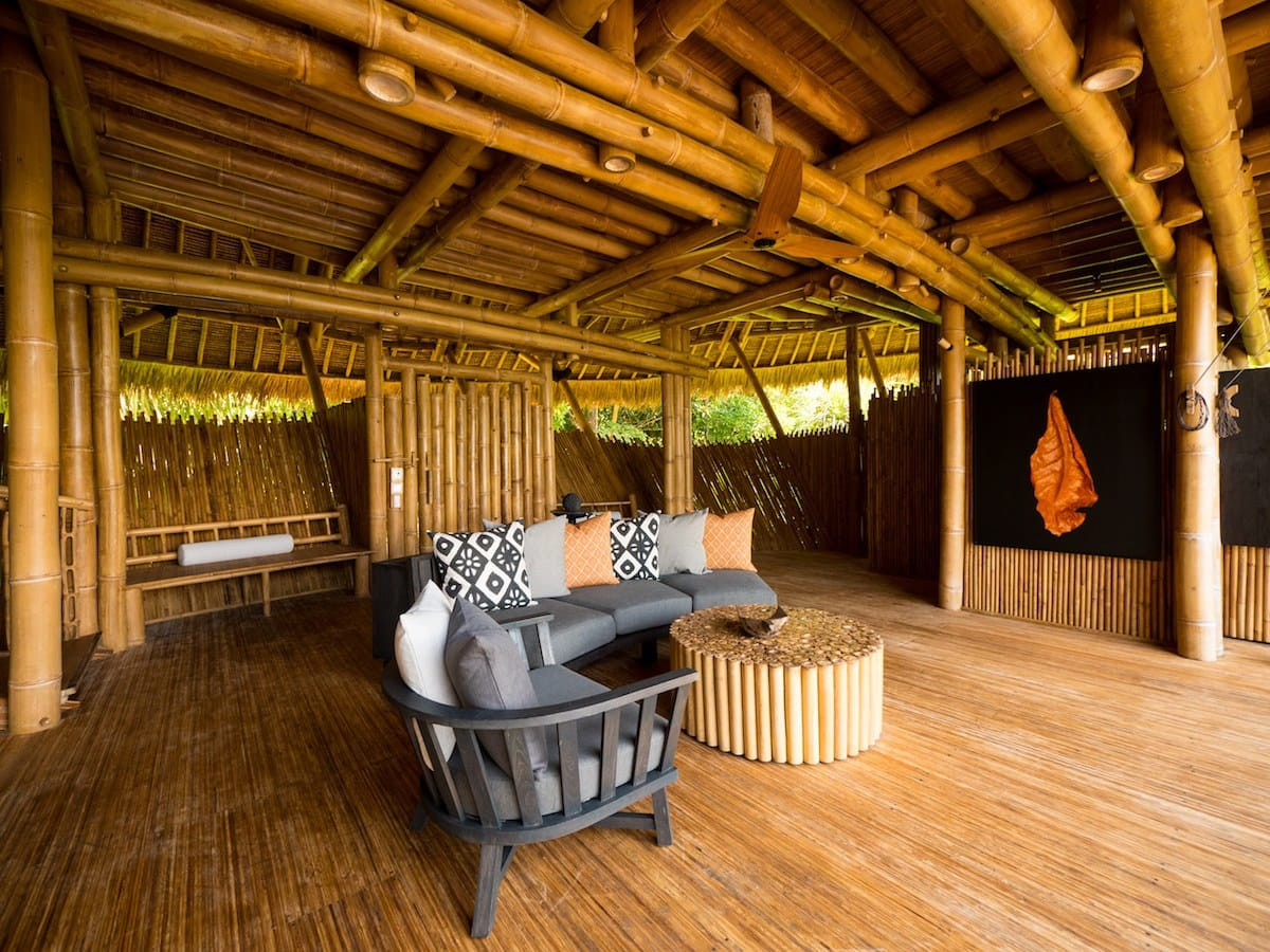 Bamboo interior in Cempedak Private Island Resort