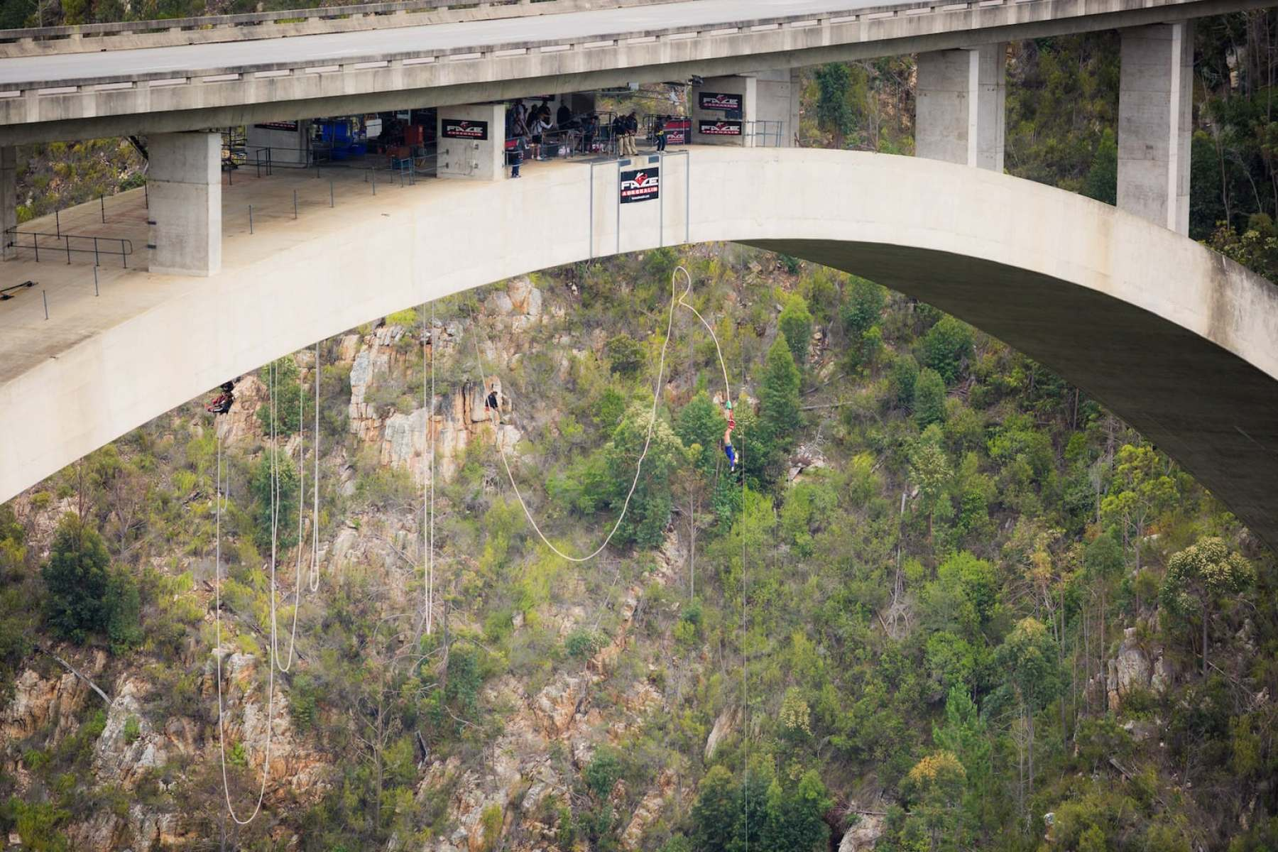 Bungy jumping in Stormsrivier