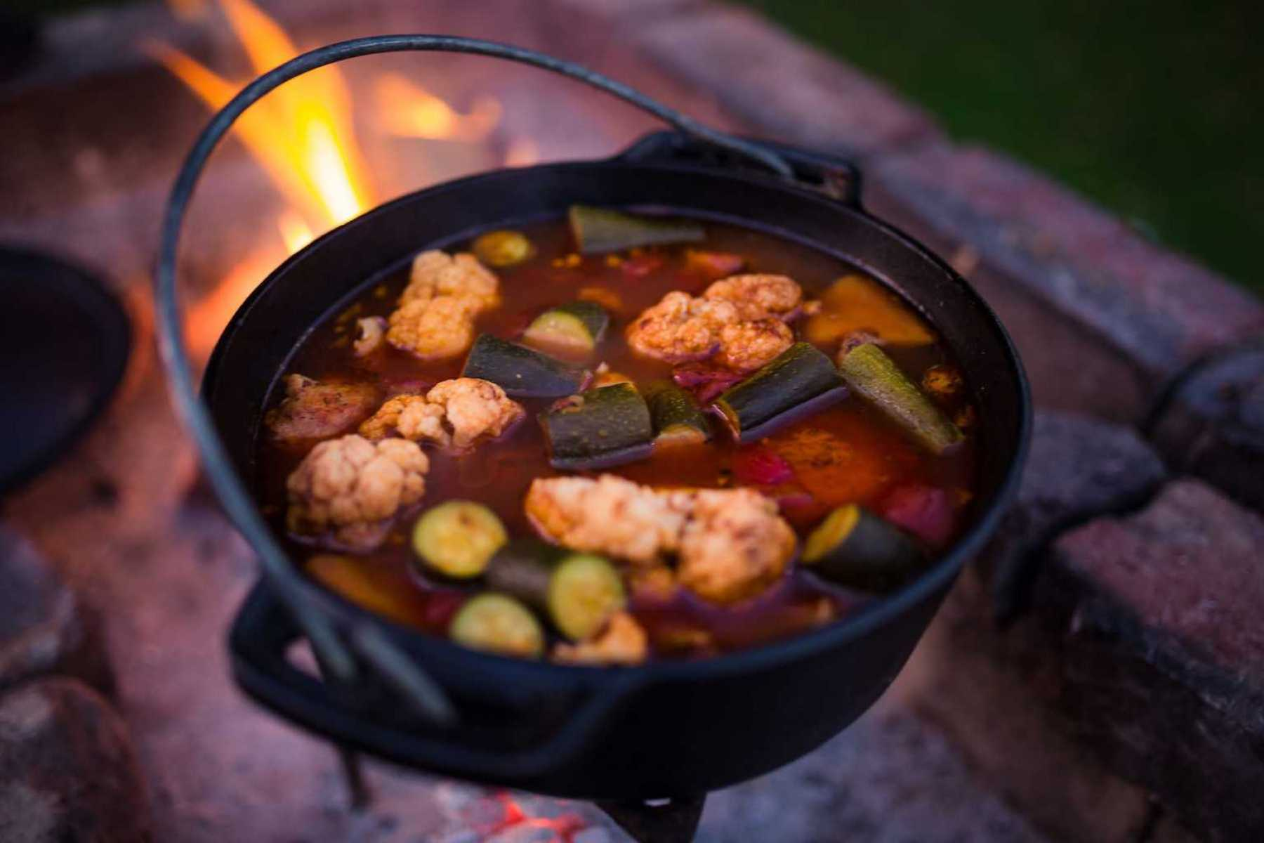 Potjie stew for dinner