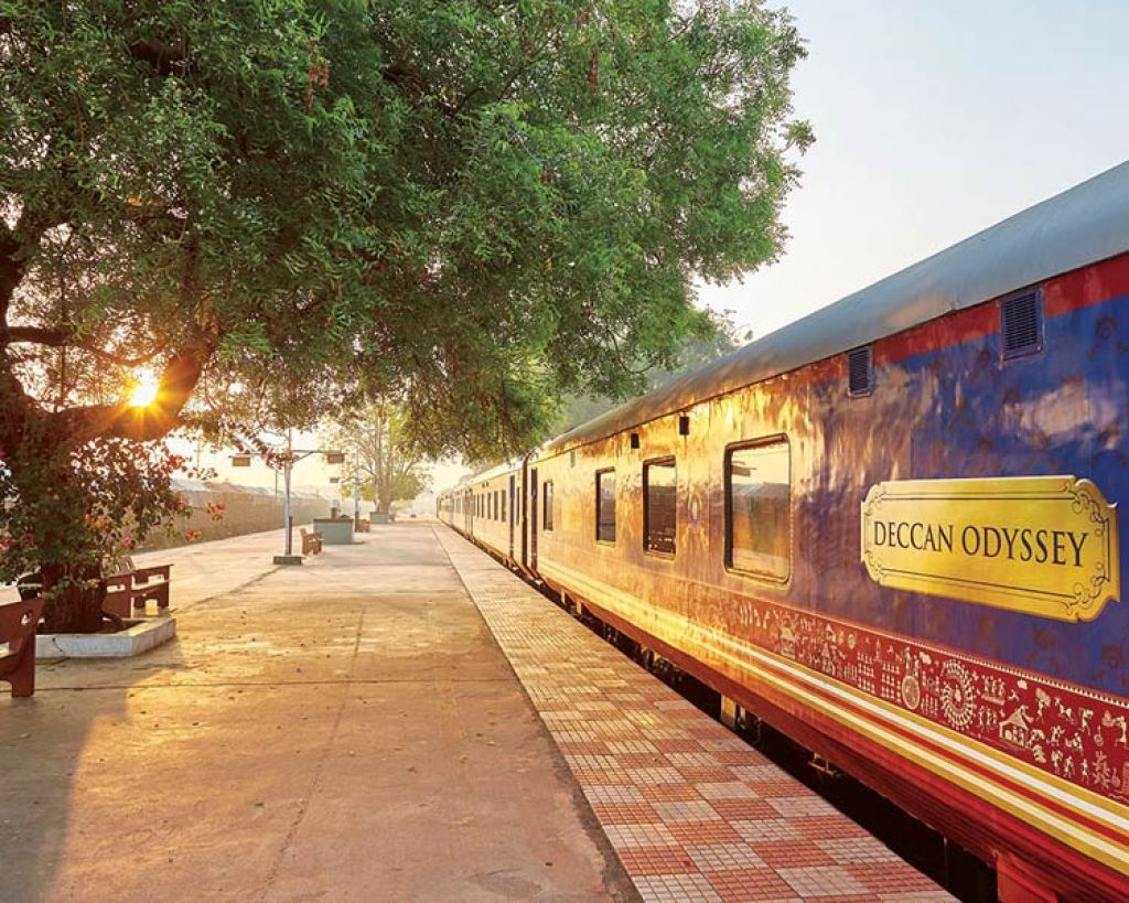 Deccan Odyssey at sunset