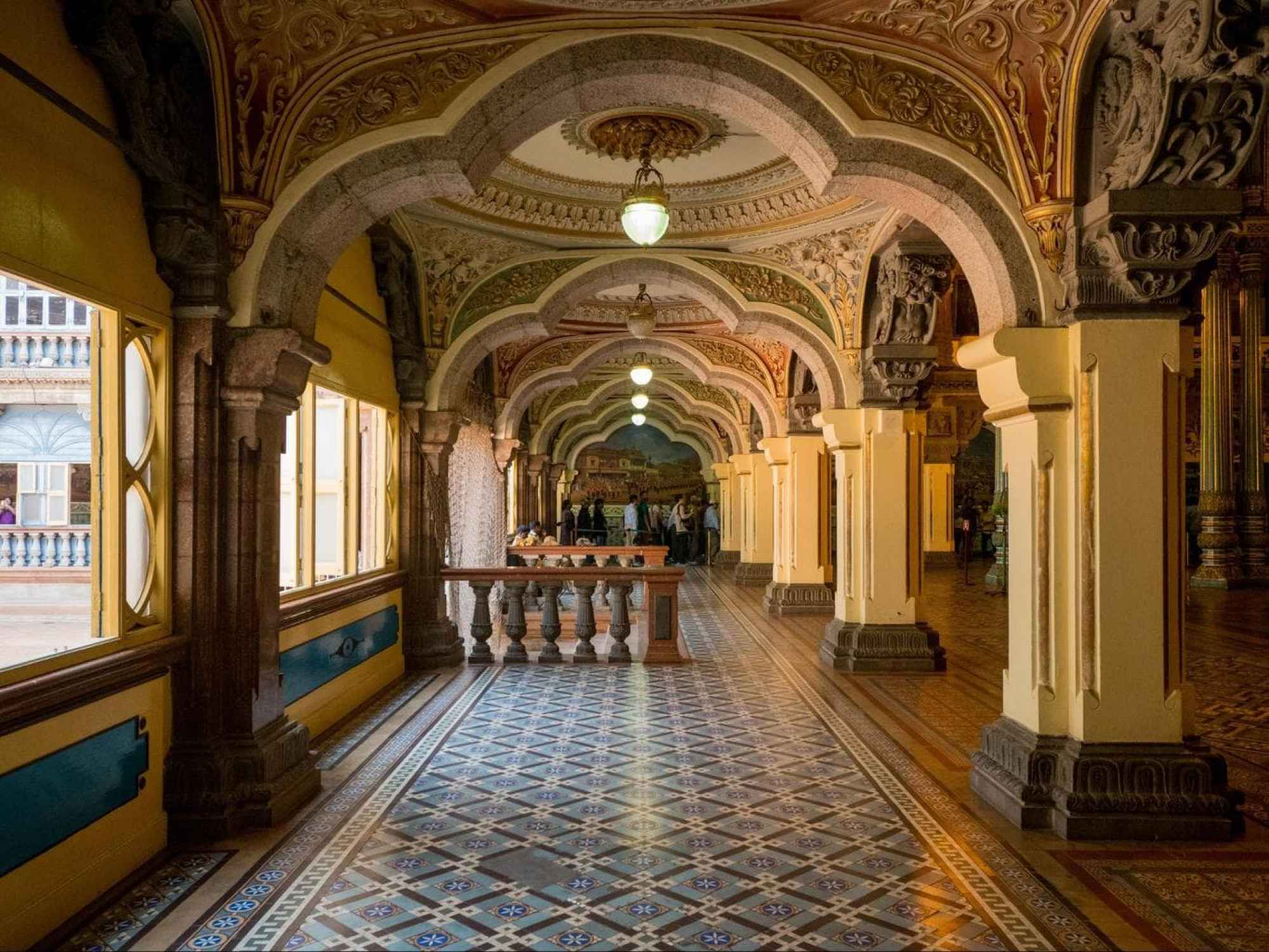 First halls in the Mysore Palace