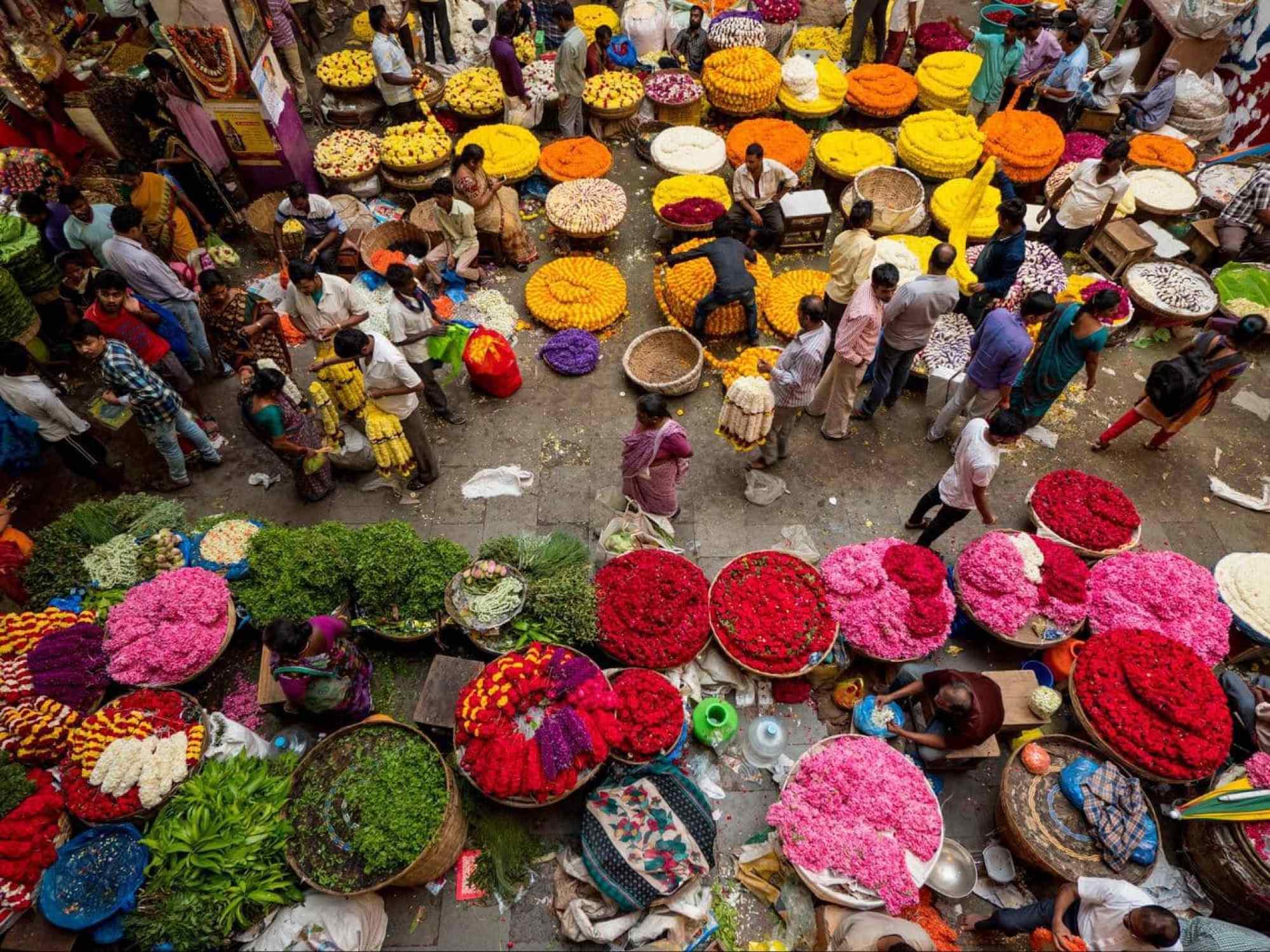KR market in Bangalore