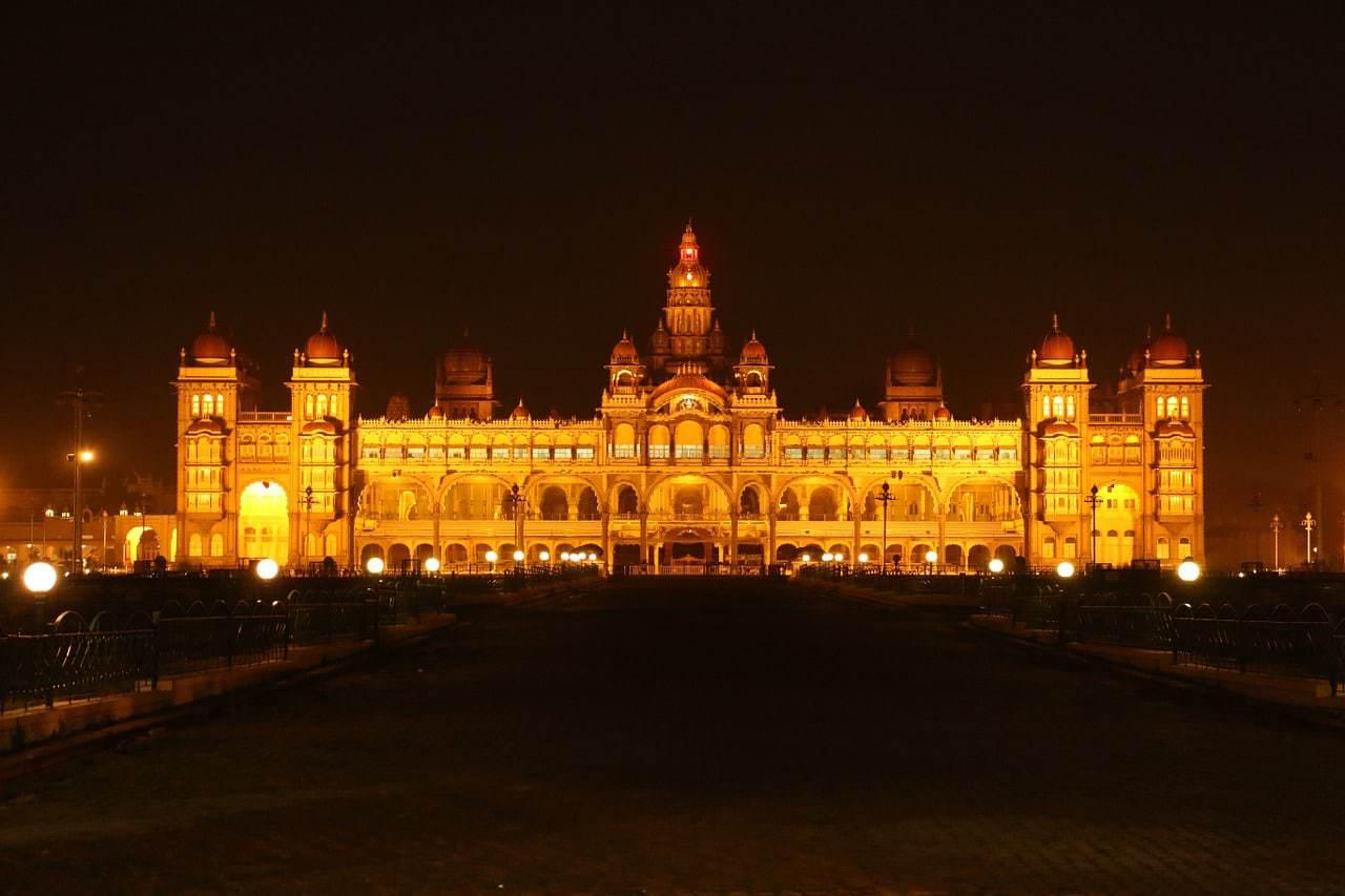 Mysore Palace at night