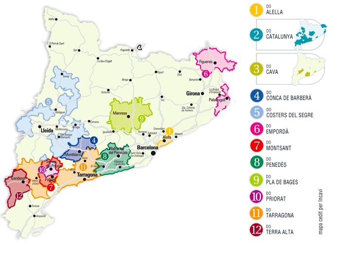 Map Of Spain Near Barcelona.Top 10 Wineries Near Barcelona To Visit Penedes And Cava Wine Tours
