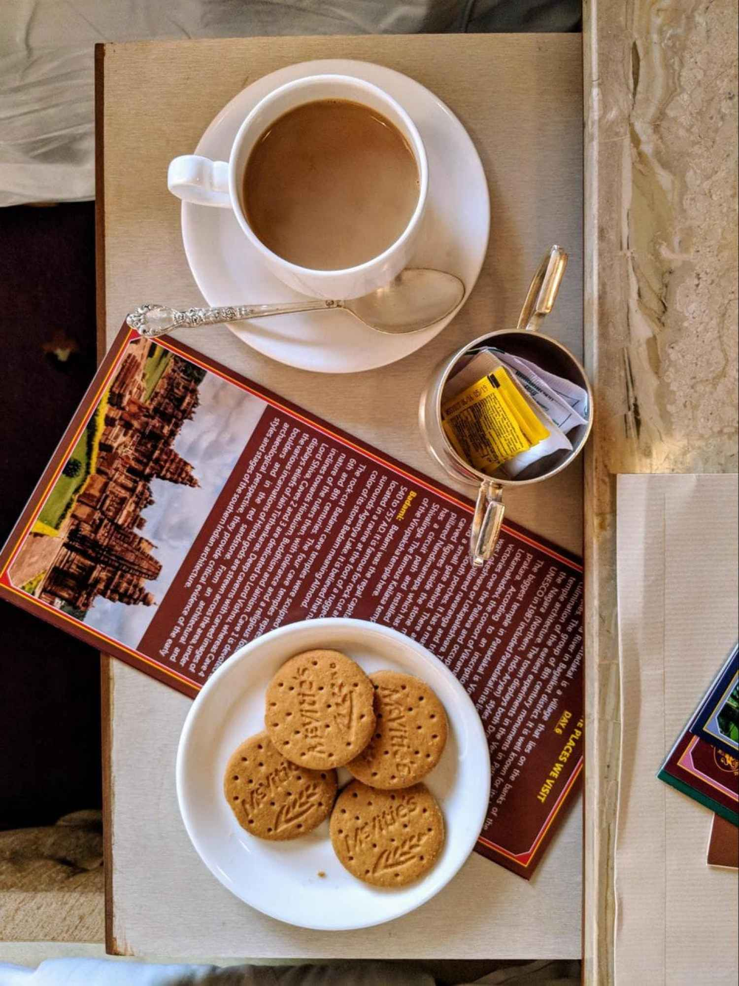 Tea and biscuits in my room