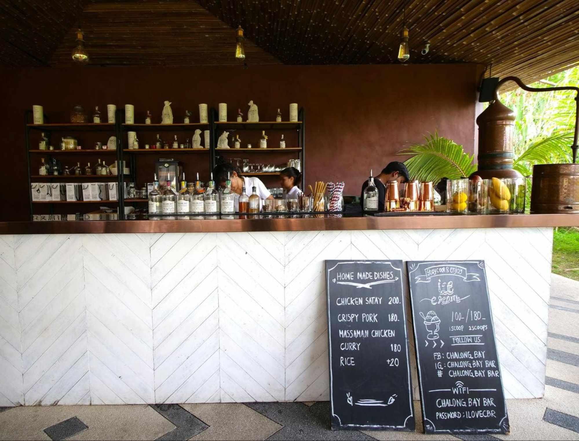 Bar at Chalong Bay Distillery