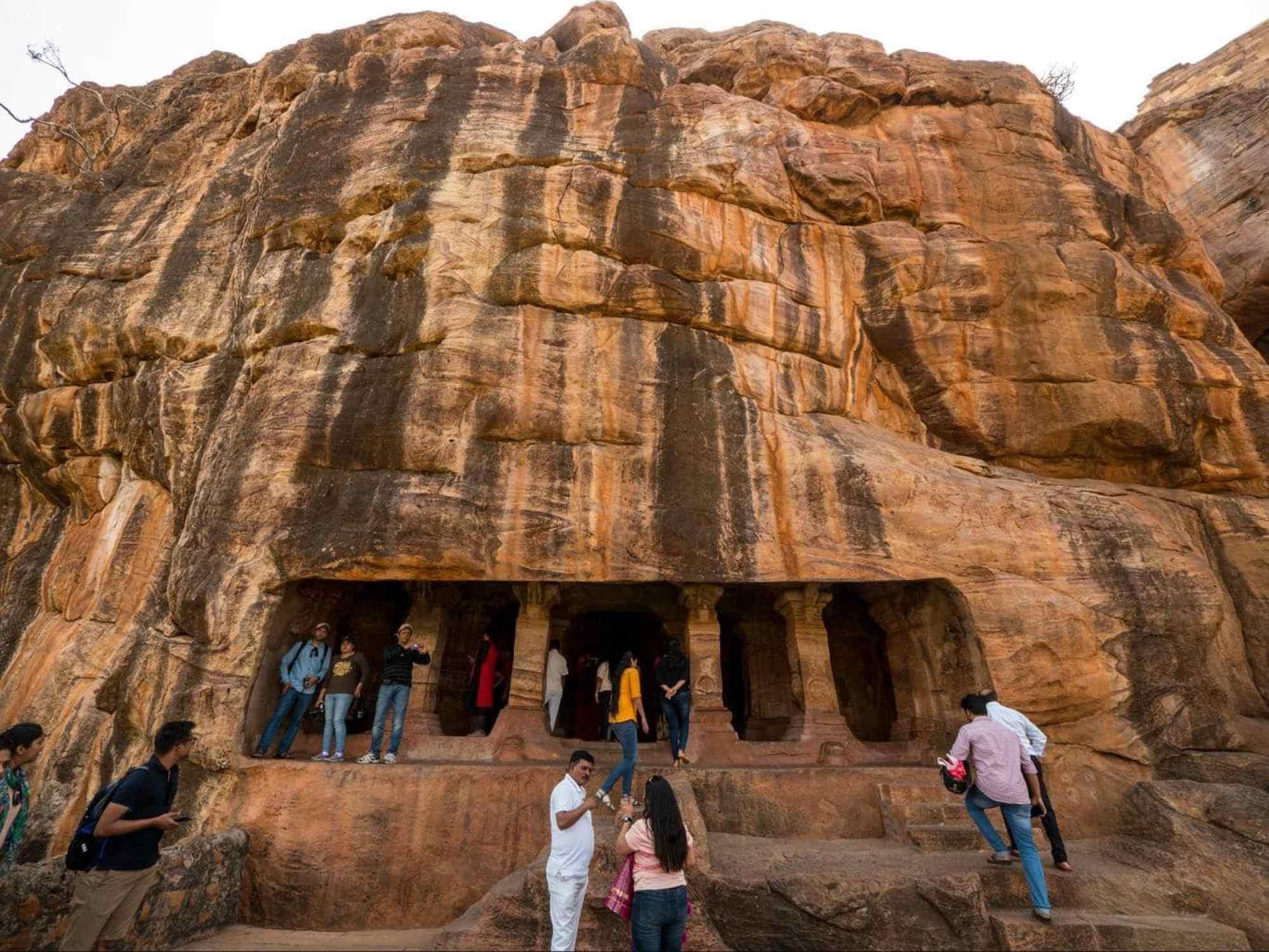 Entrance to Badami cave no3