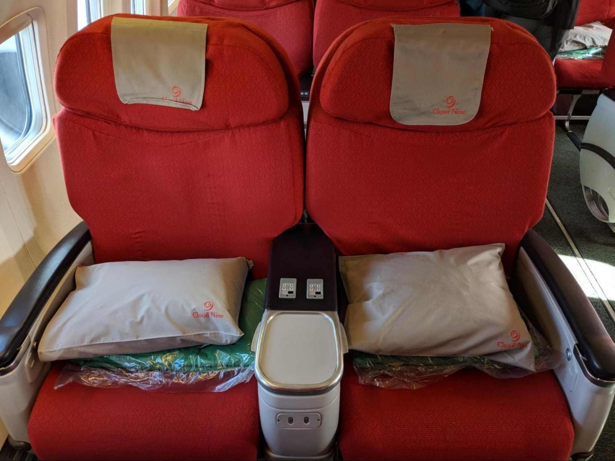 Business Class on Ethiopian regional flight Boeing 737