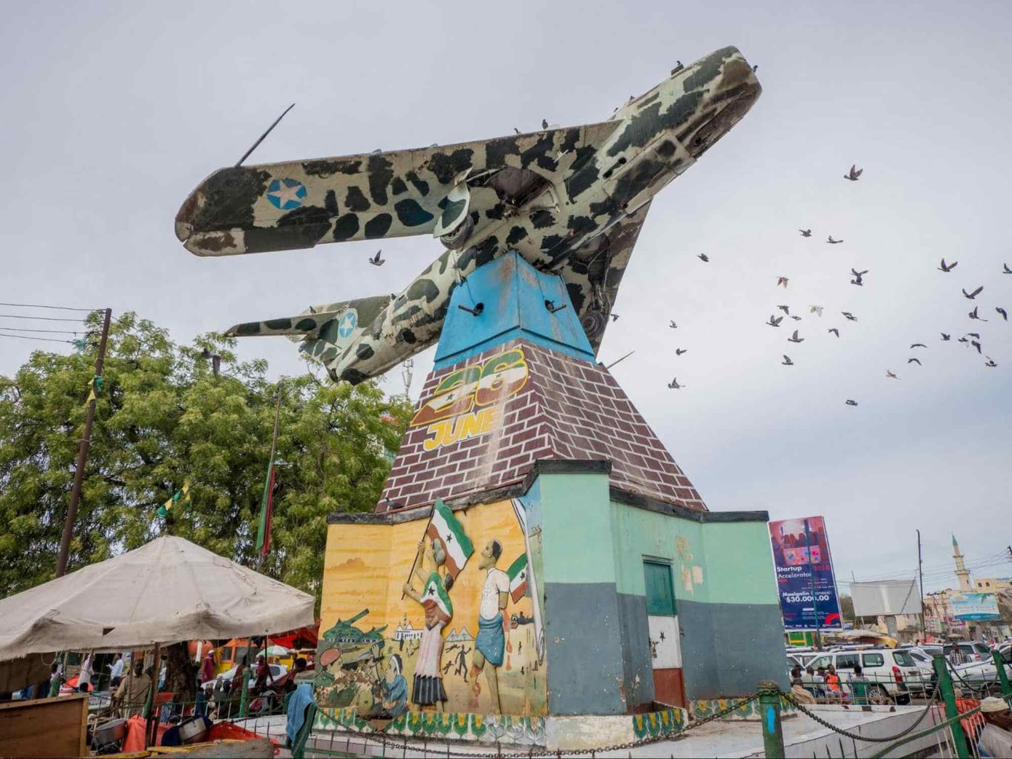 MiG Jet Fighter - War Memorial in Freedom Square in Hargeisa