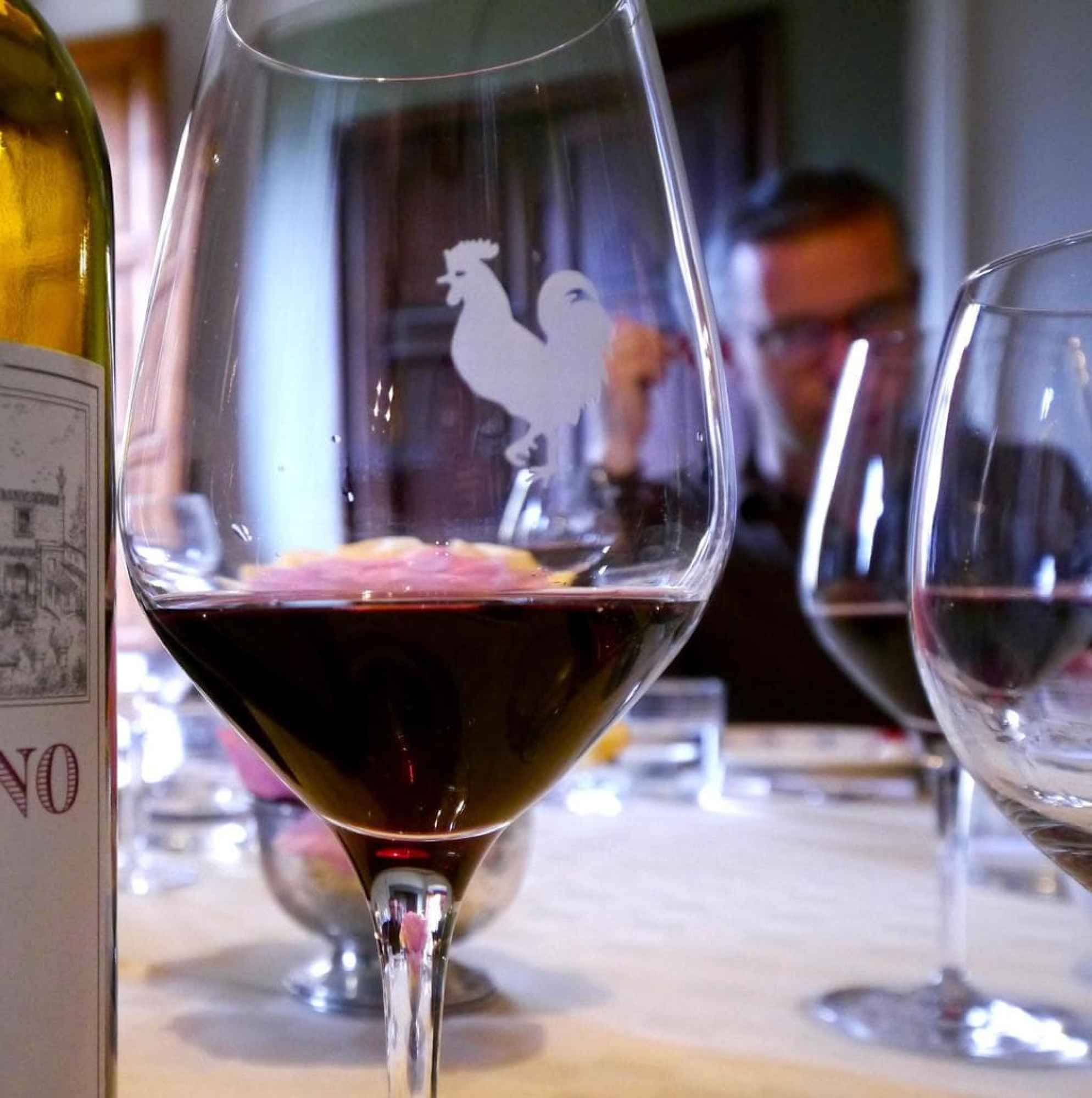 The famous rooster in the Chianti Classico seal
