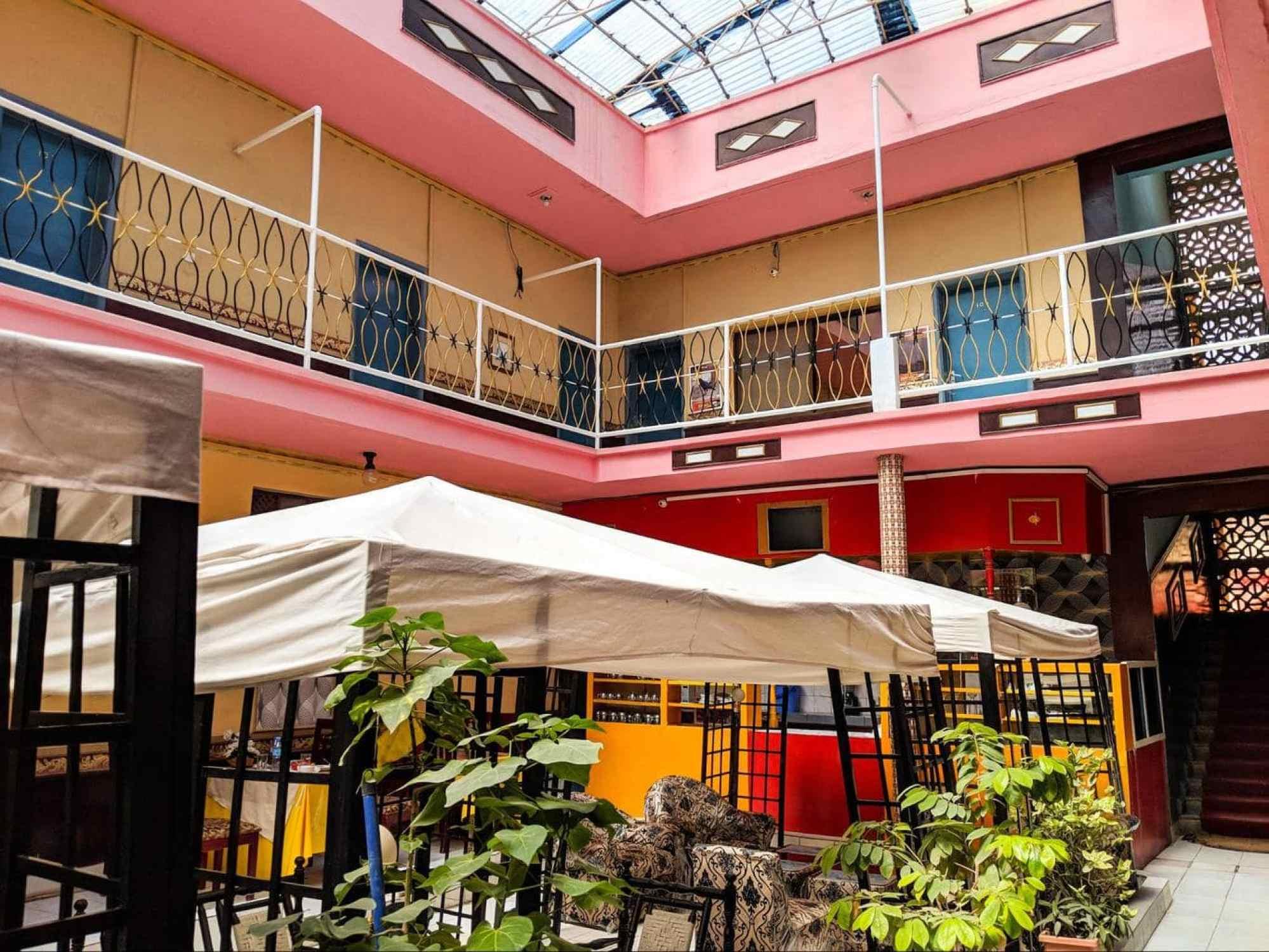 The popular Oriental Hotel in Hargeisa