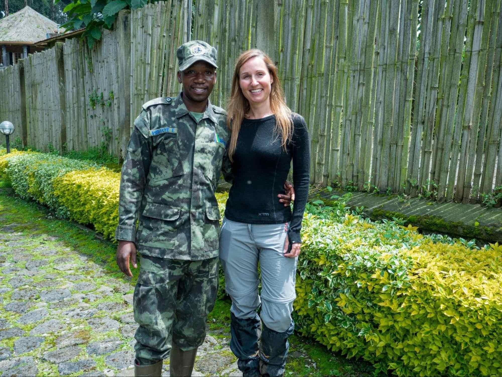 Emmanuel, our second gorilla trekking guide