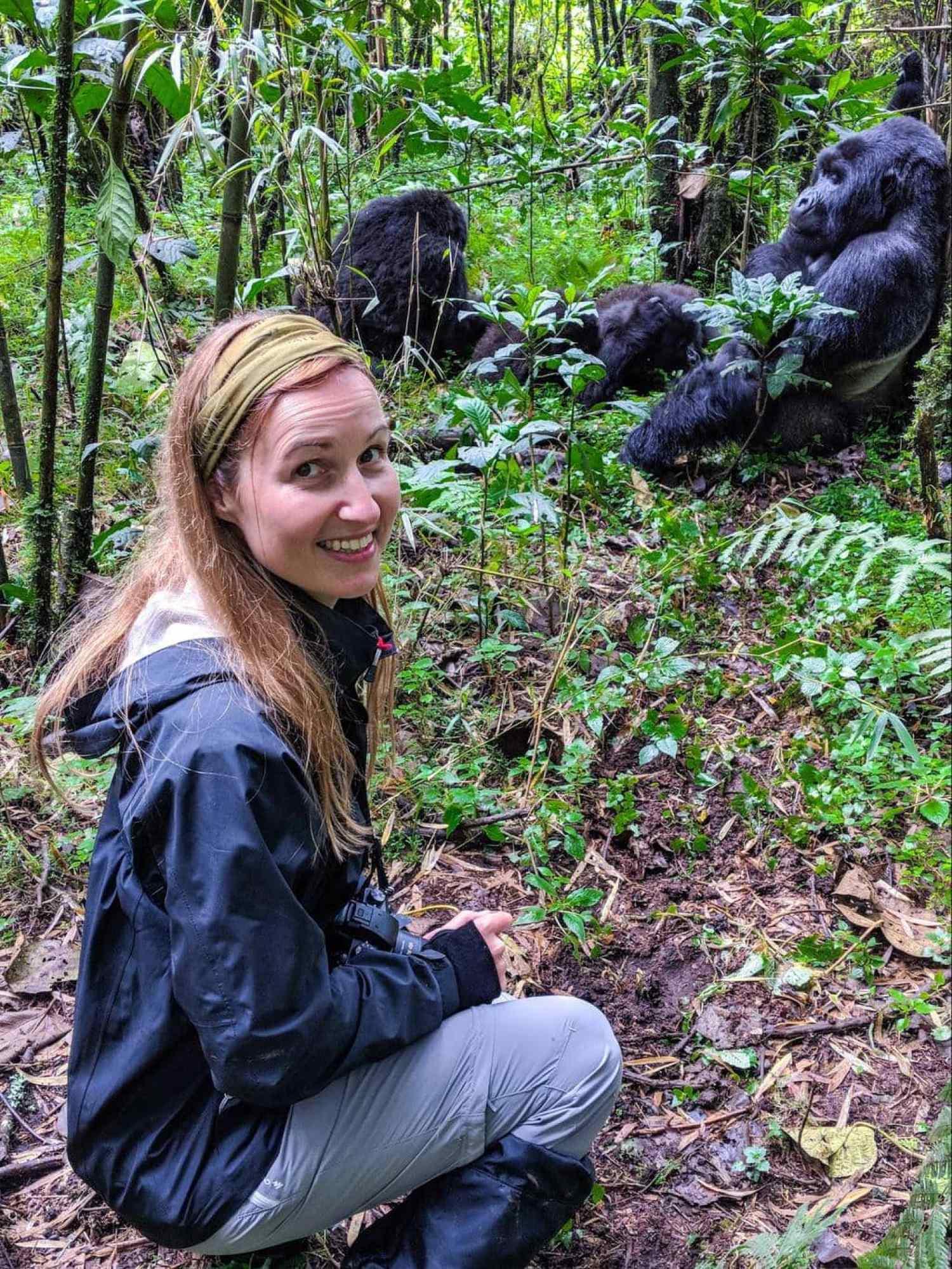 Me and the mountain gorillas in Rwanda