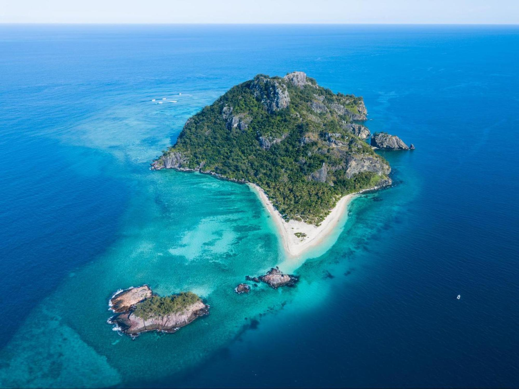 The real Cast Away island from the movie
