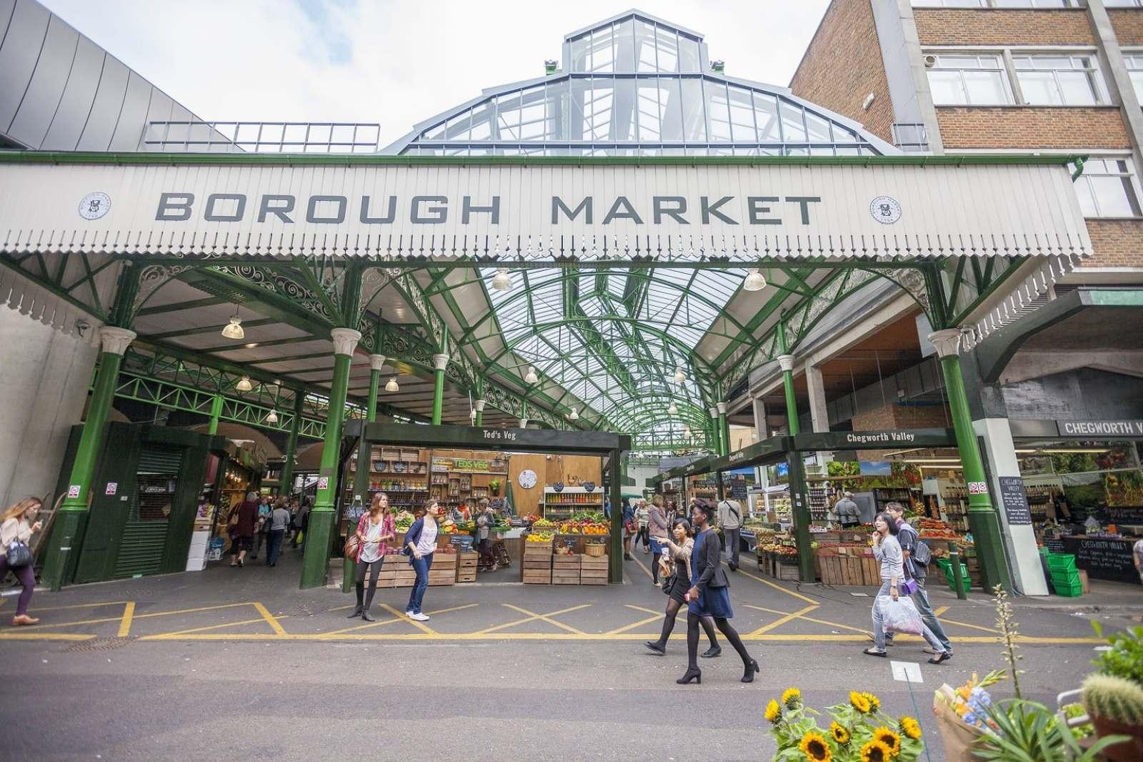 Entrance to Borough Market in London