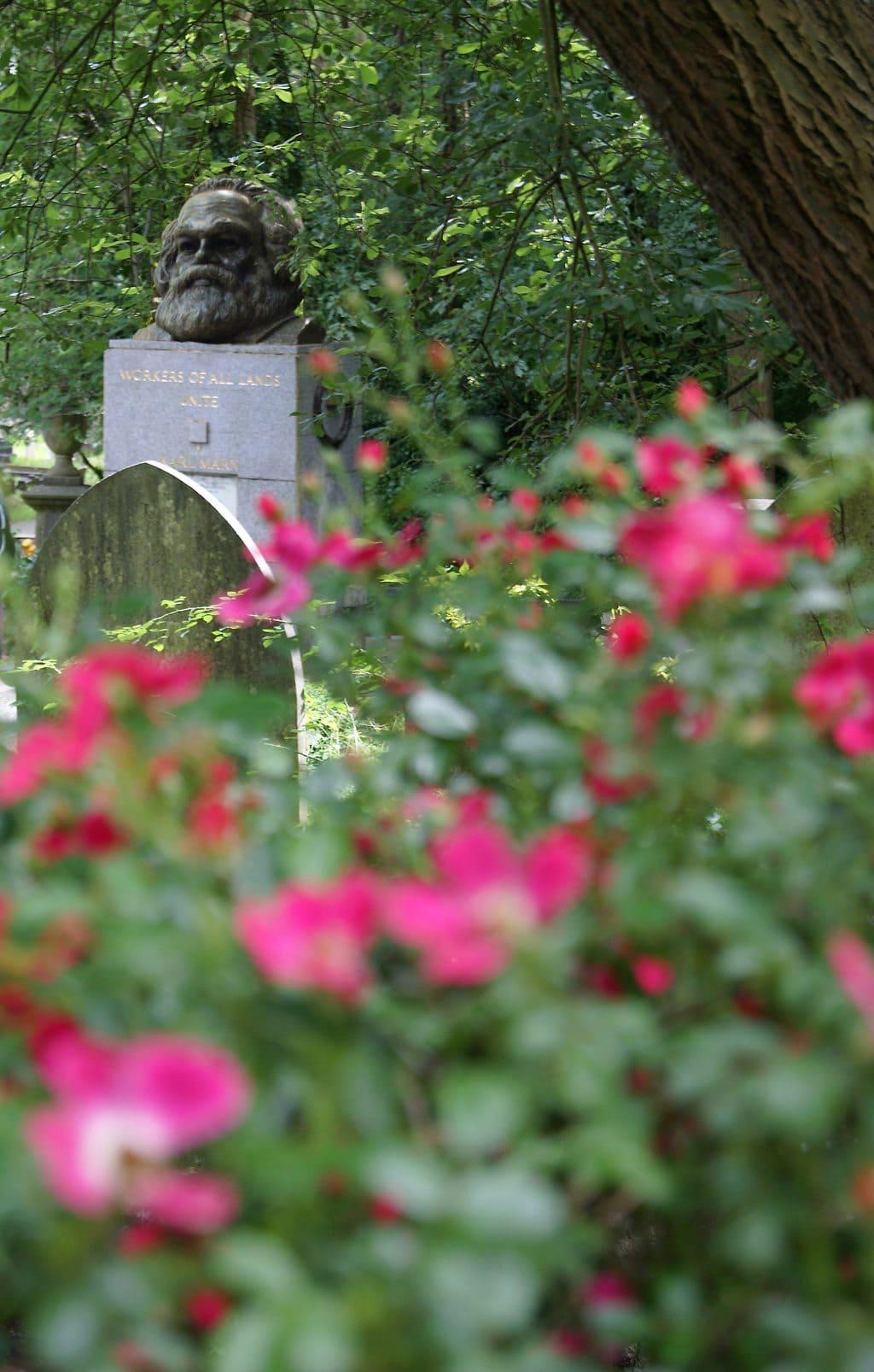 Headstone of Karl Marx in Highgate Cemetary