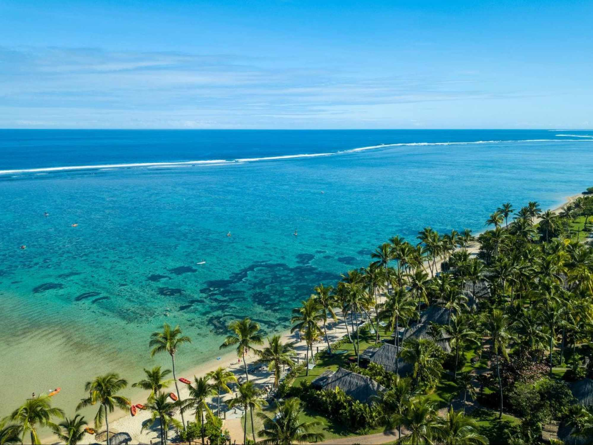 Outrigger Fiji Beach Resort from the sky