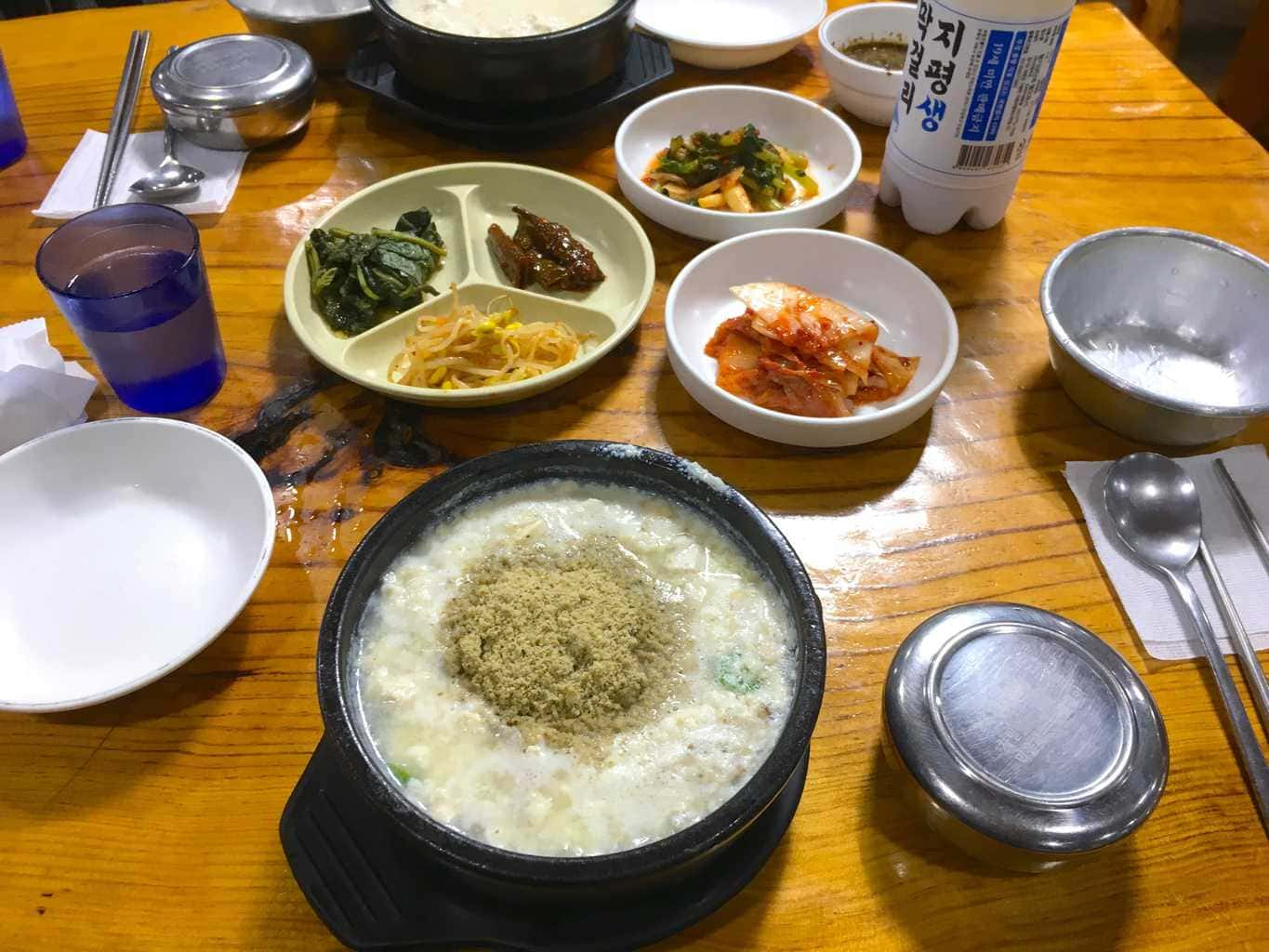 Traditional Korean food Perilla seed kalguksu