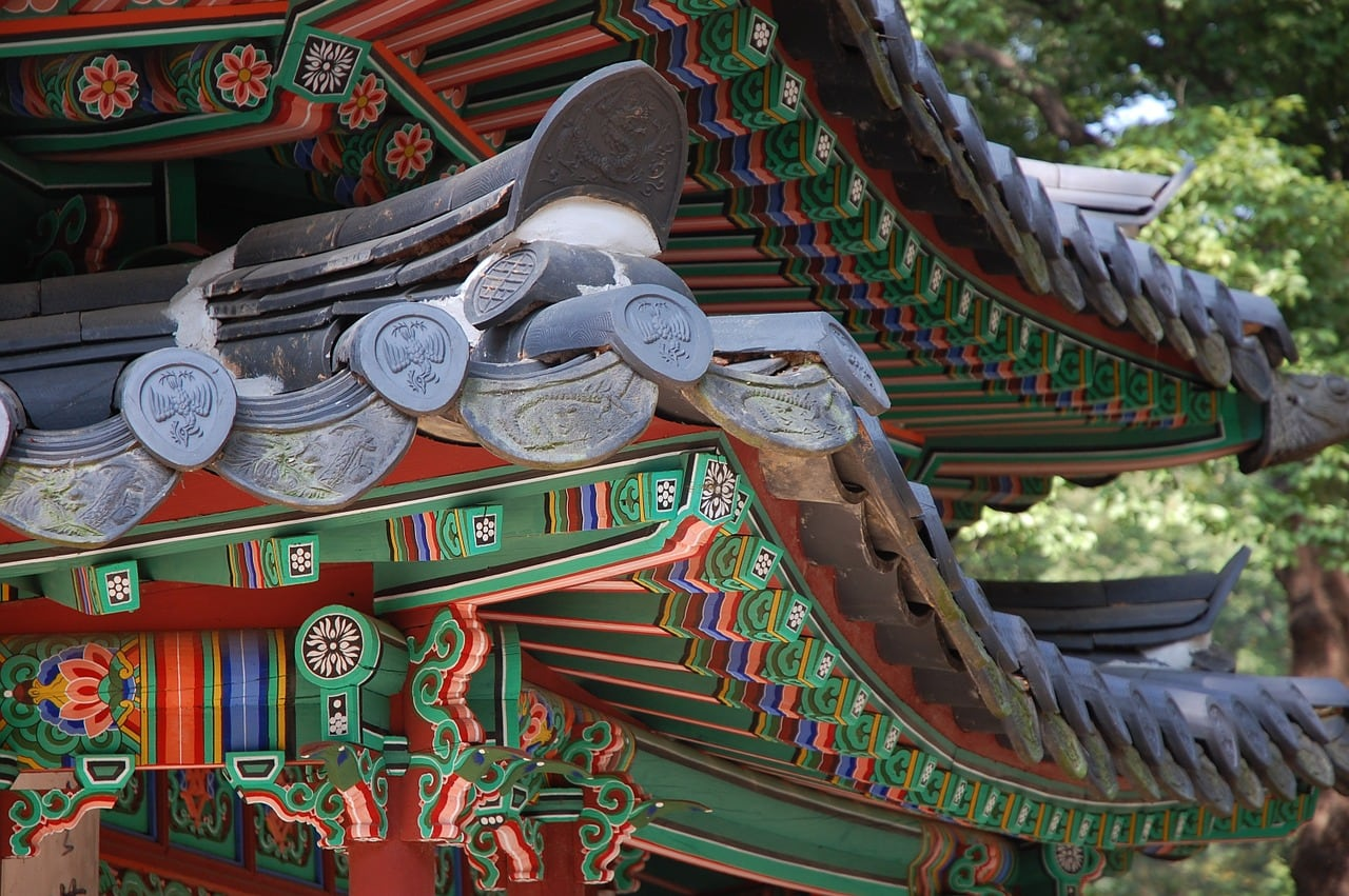 Typical Korean architecture of old at Changdeokgung