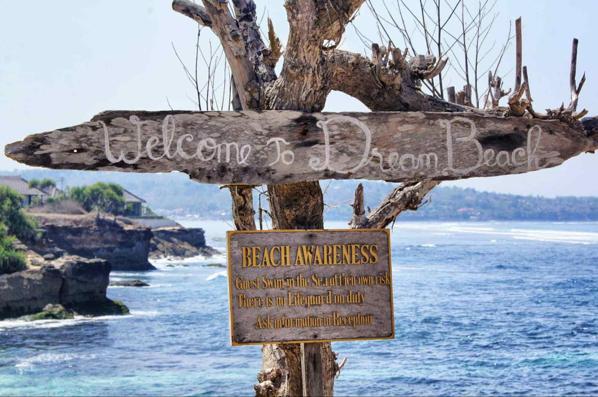 Dream Beach, one of the most famous beaches in Nusa Lembongan, Bali