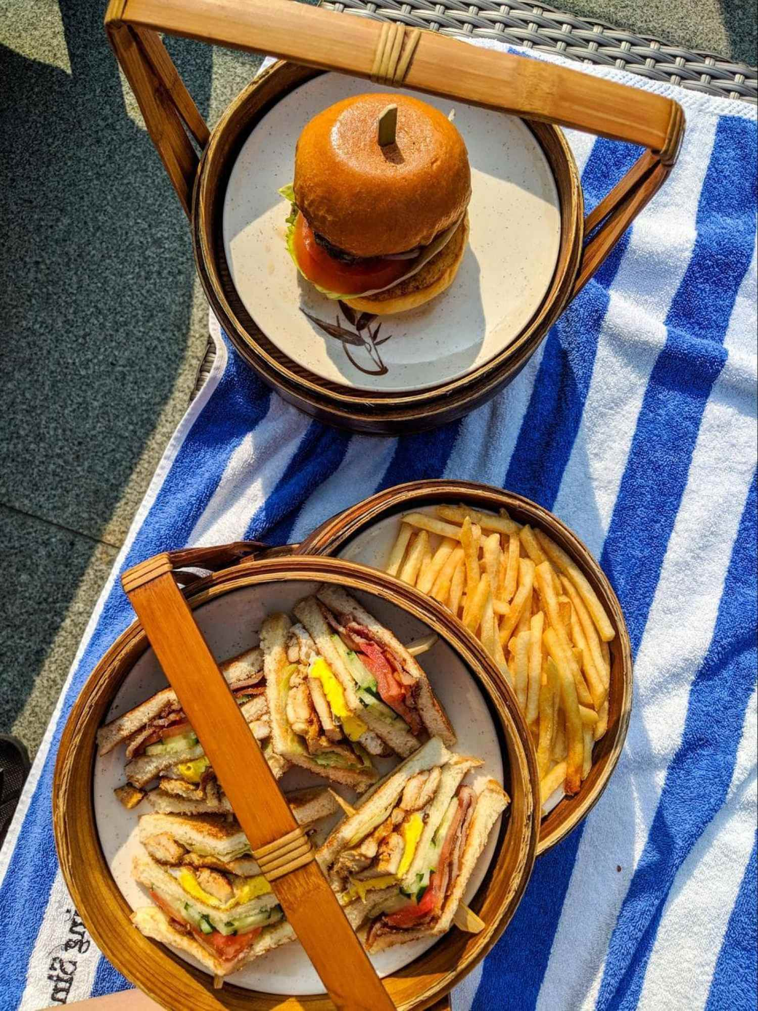 Poolside snacks at Hotel Fort Canning