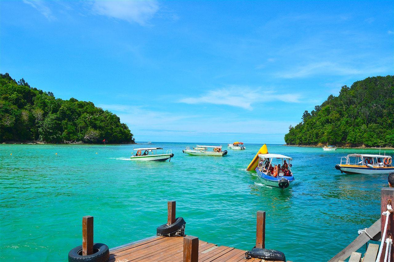 Sapi Island in Malaysia