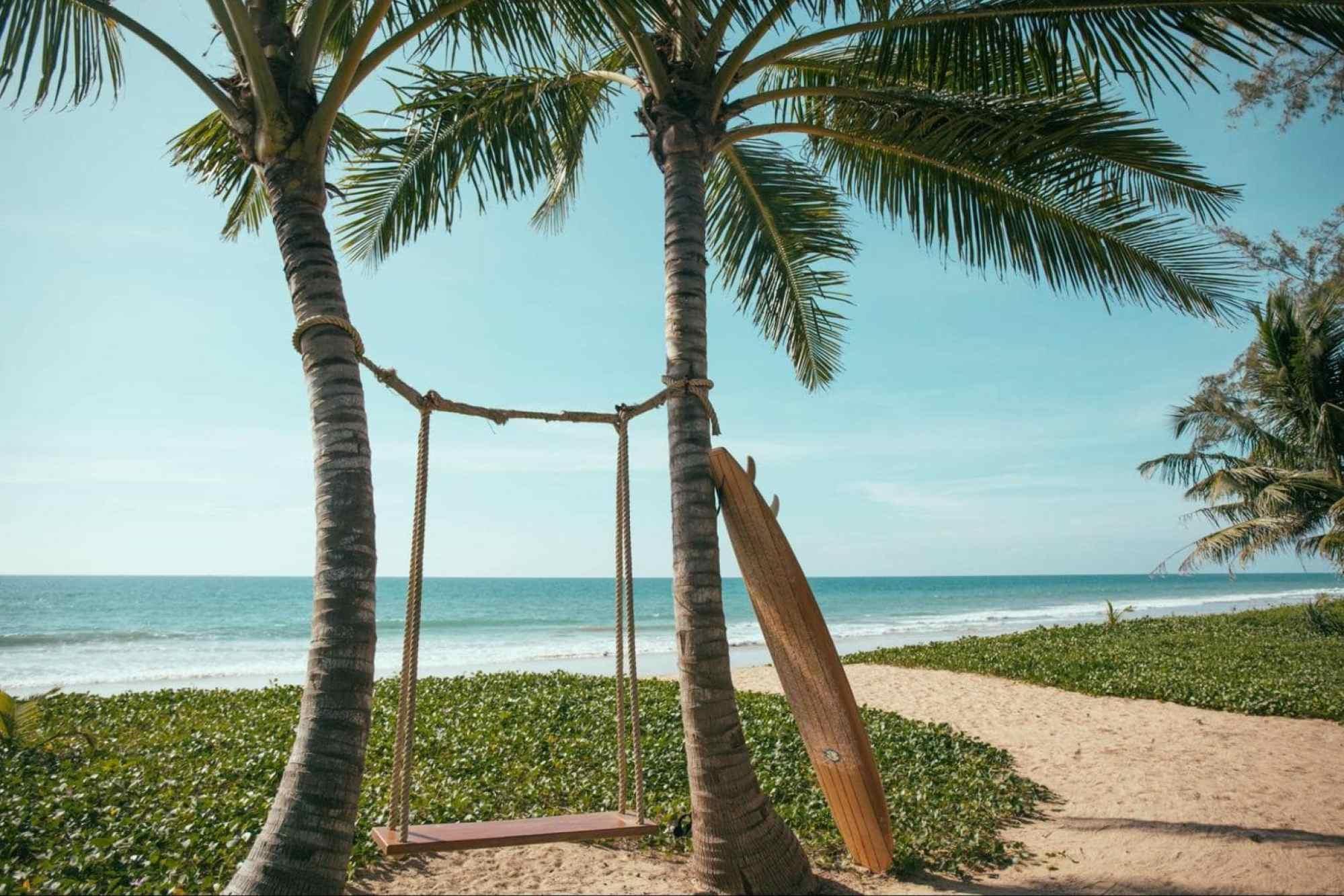 The beach swing at Baba Beach Club - Photo courtesy of Baba Beach Club Phuket