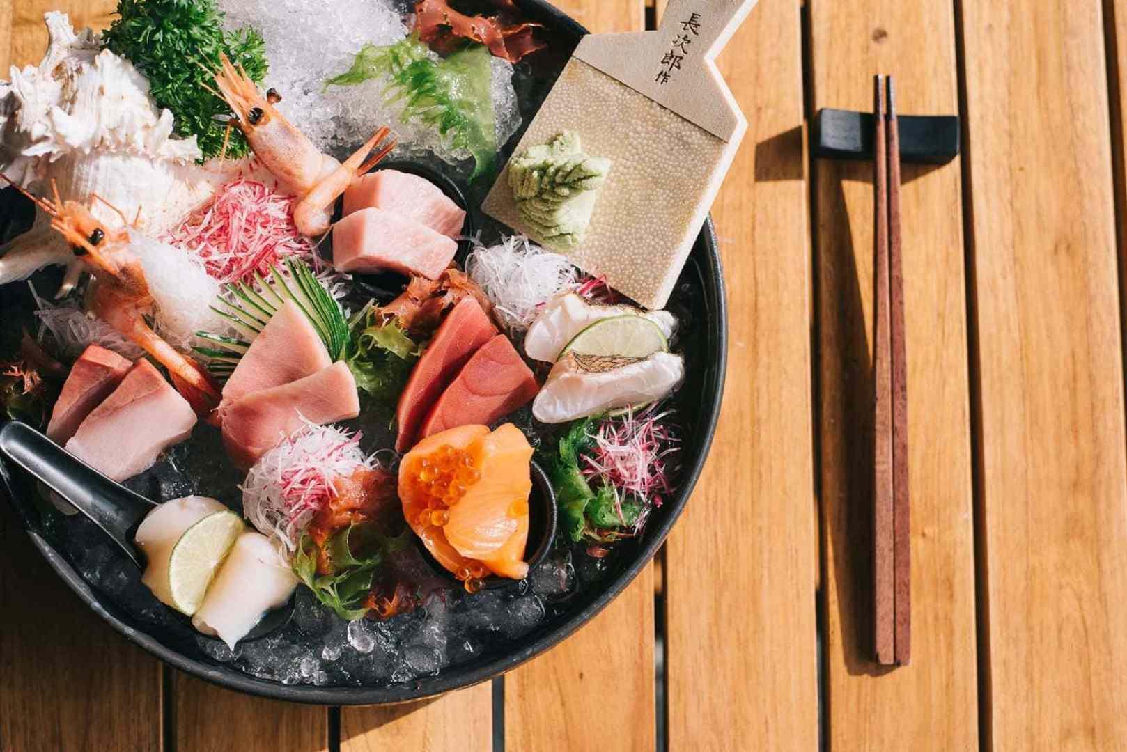 The freshest sashimi - Photo courtesy of Baba Beach Club Phuket