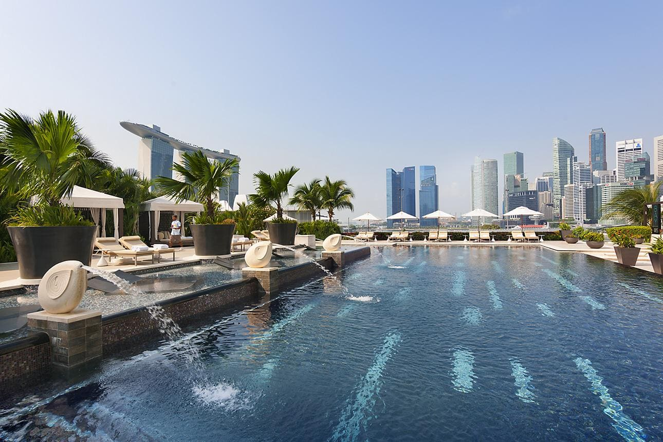 Mandarin Oriental swimming pool