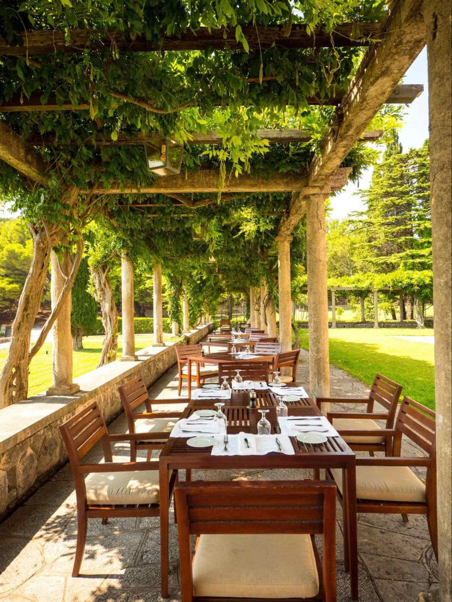Outdoor tables at Loggia