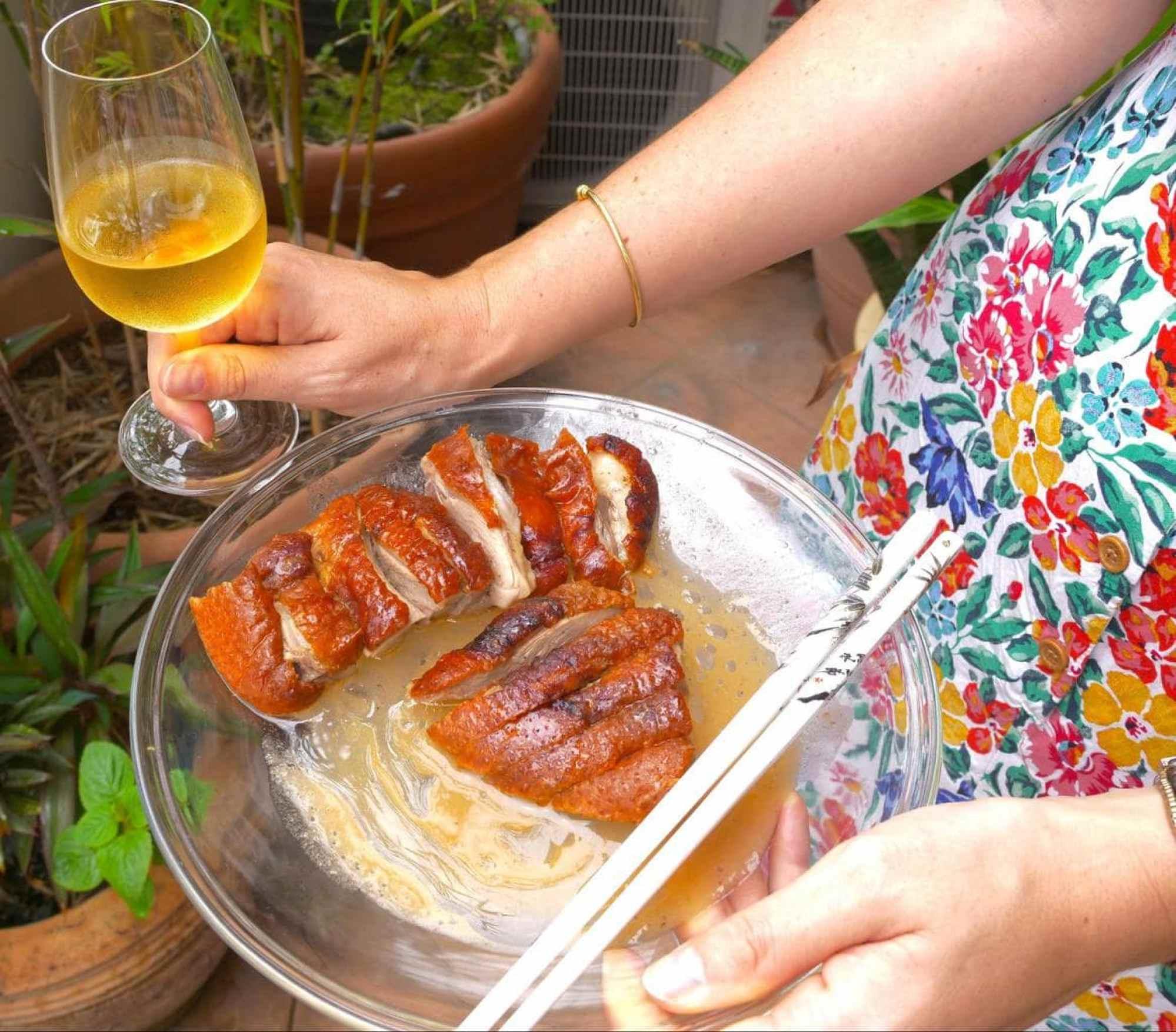 Peking duck with Italian Malvasia wine