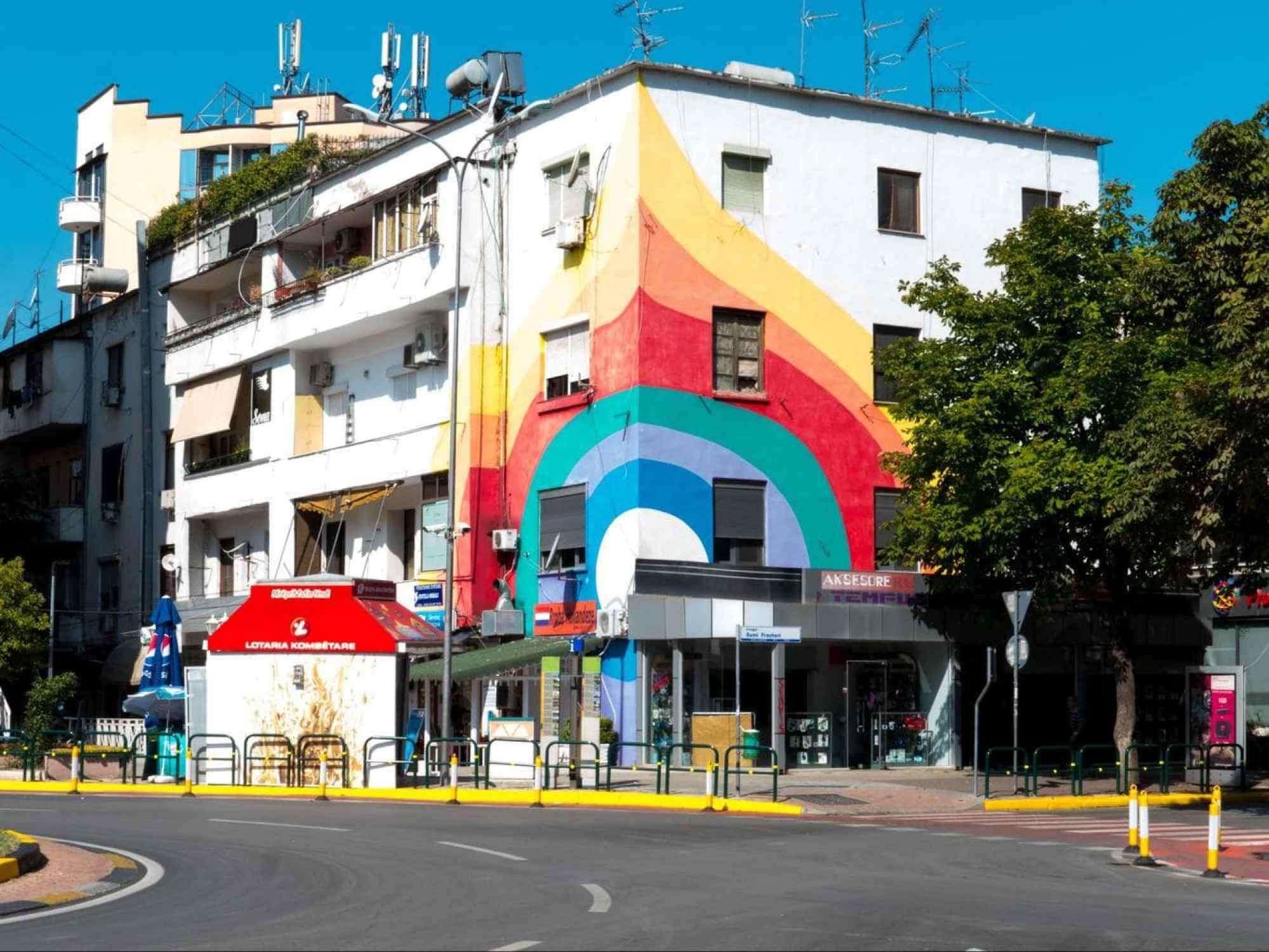 Tirana's second rainbow building