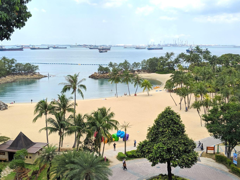 """Siloso Beach on Sentosa Island"""