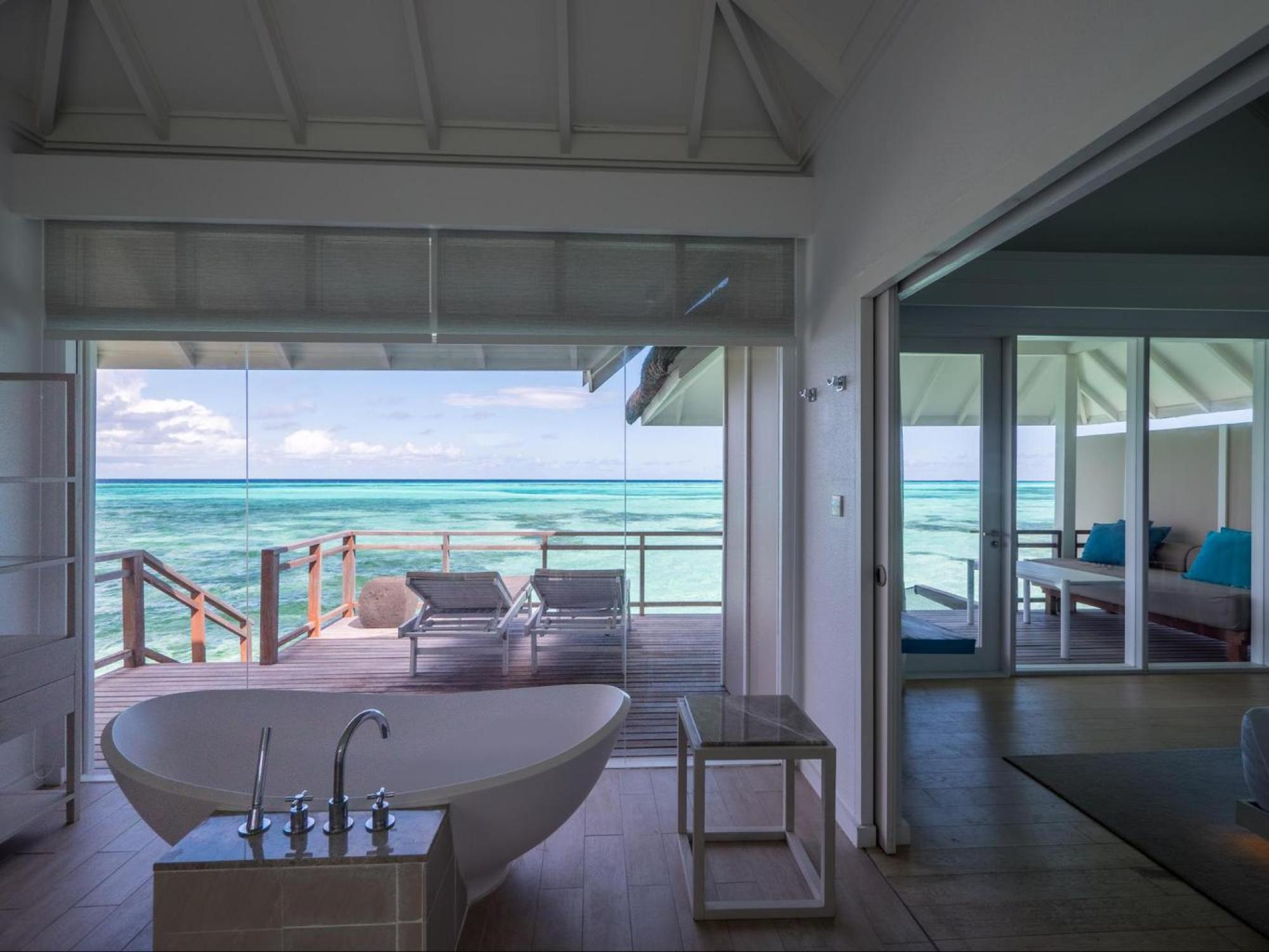Bathtubs at LUX* Maldives South Ari Atoll