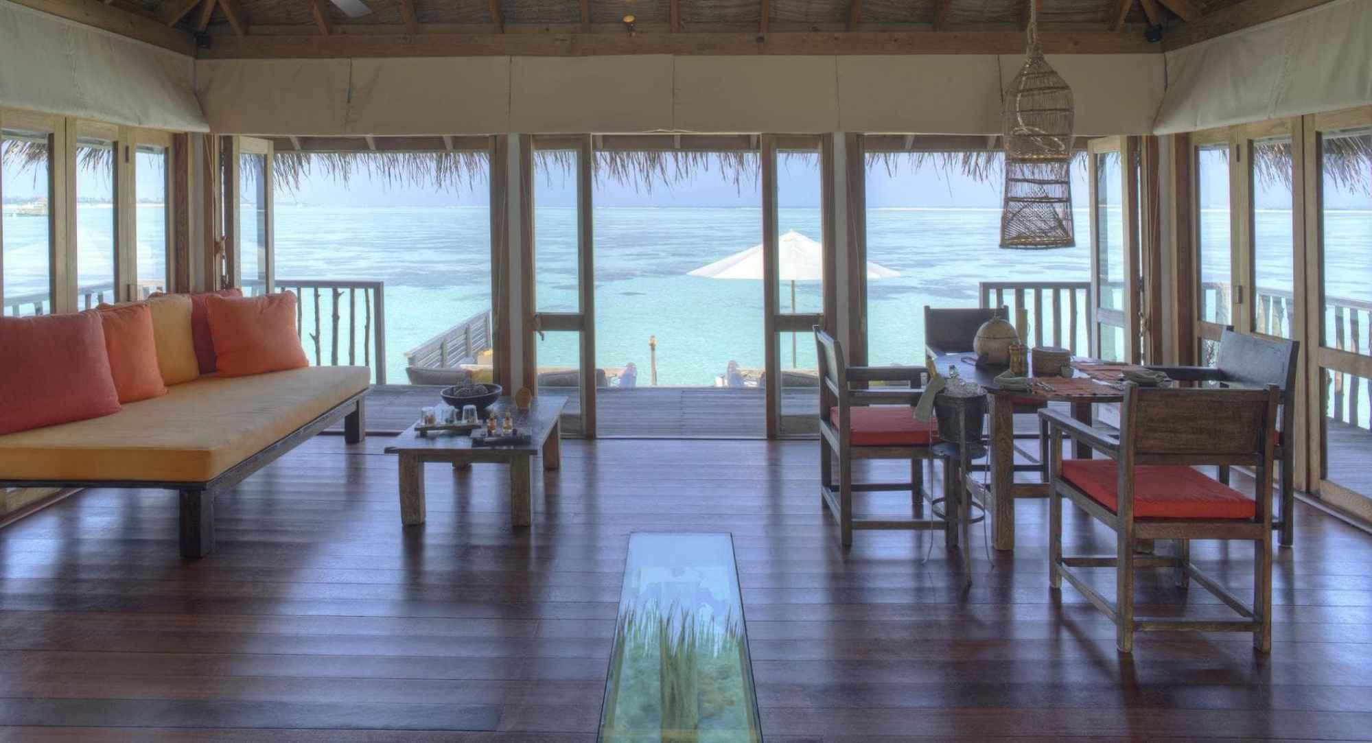 Living room of the Residence Villas - Courtesy of Gili Lankanfushi