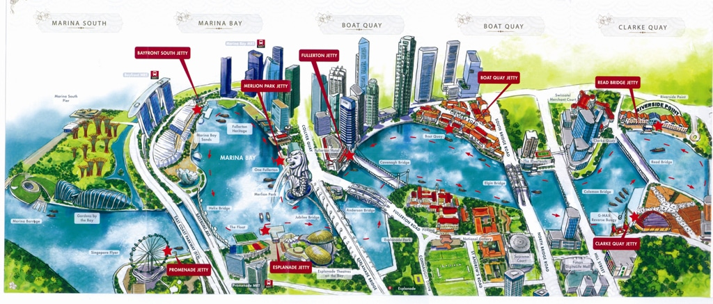 Map Singapore River Cruise