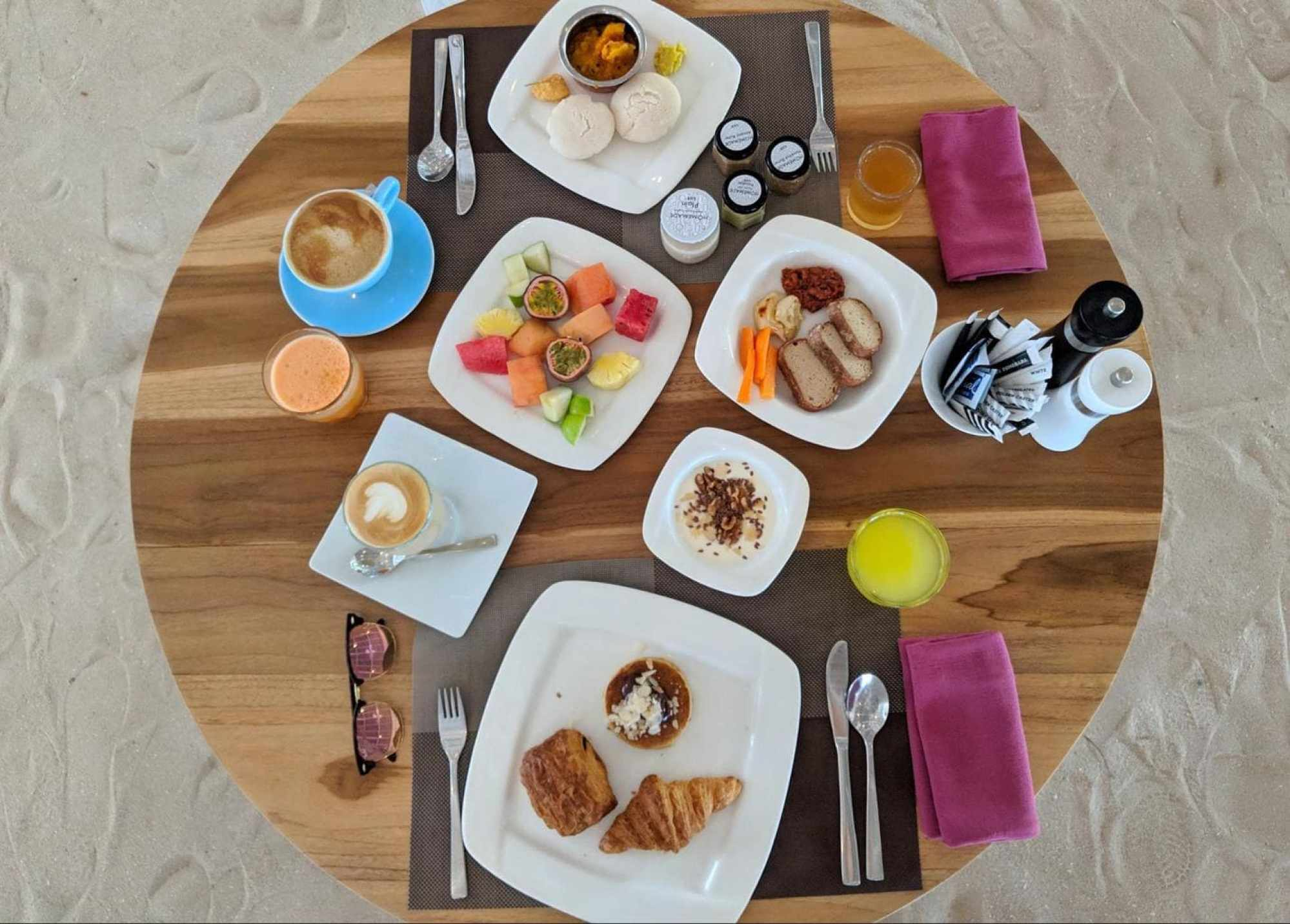 Our breakfast spread