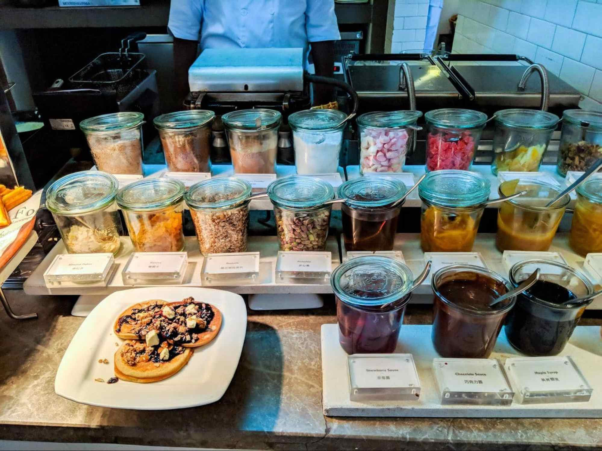 Some of the breakfast foods at LUX* Maldives 02