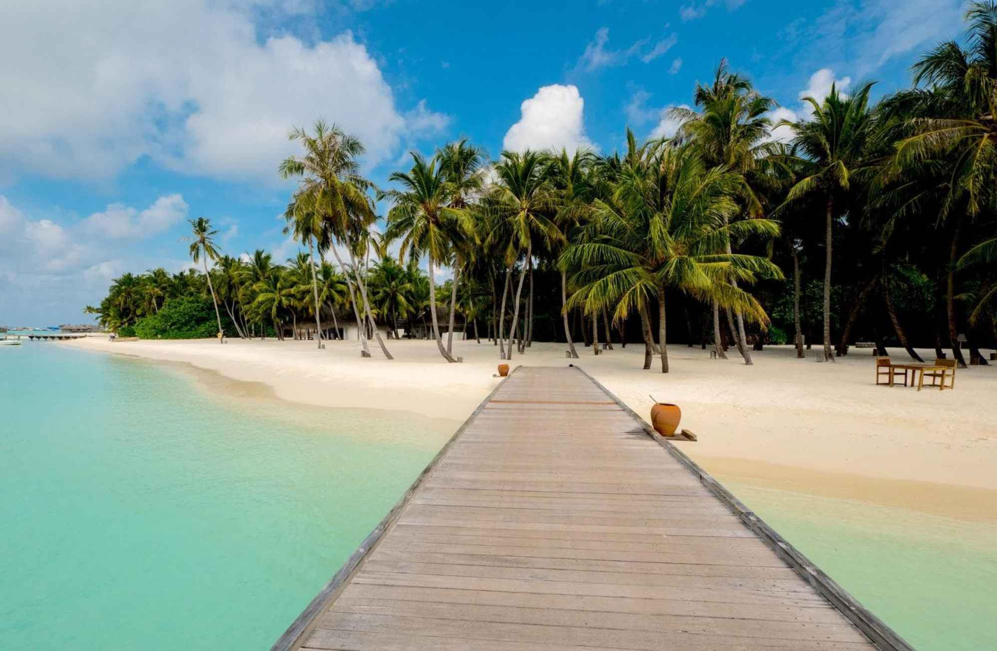 The beach at Gili Lankanfushi