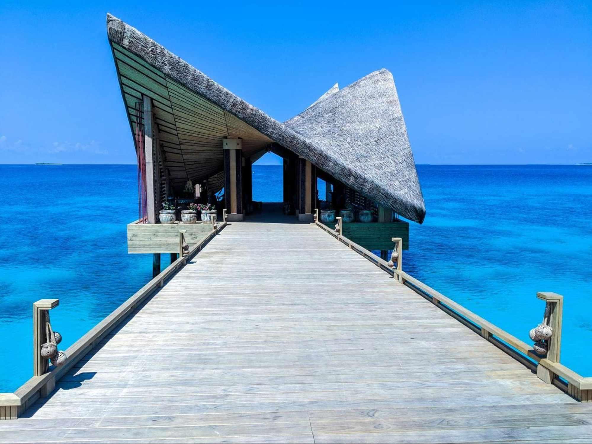 Arrival jetty at Joali Maldives