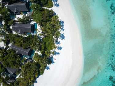 Beach villa at Joali Maldives