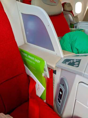 New Ethiopian Airlines Boeing 787 storage and armrest