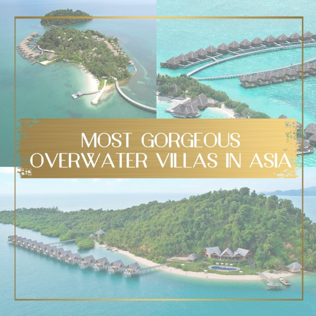 gorgeous overwater bungalows in Asia feature