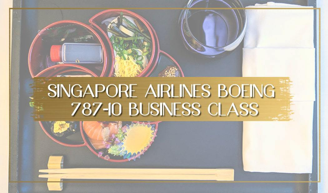 Singapore Airlines Boeing 787-10 Business Class main