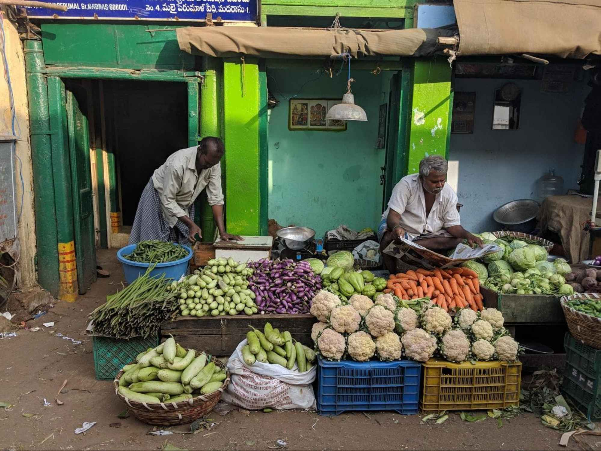Georgetown market fresh fruit and veg